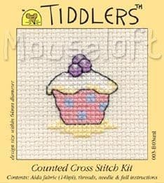 Mouseloft Cupcake Tiddlers cross stitch kit